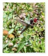 Hummingbird In Flight Fleece Blanket