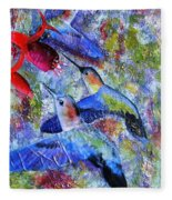 Hummingbird Joy Fleece Blanket