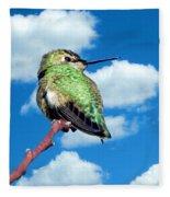 Hummingbird On High Fleece Blanket