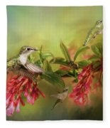 Hummingbird Paradise Fleece Blanket