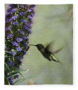 Hummingbird Sharing Fleece Blanket