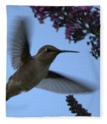 Hummingbird Wings And Butterfly Bush Fleece Blanket