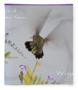Hummingbird Wings Fleece Blanket