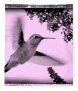 Hummingbird With Old-fashioned Frame 2  Fleece Blanket