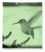 Hummingbird With Old-fashioned Frame 5 Fleece Blanket