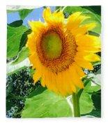 Humongous Sunflower Fleece Blanket