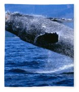 Humpback Full Breach Fleece Blanket