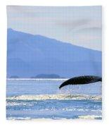 Humpback Whale Flukes Fleece Blanket