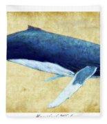 Humpback Whale Painting - Framed Fleece Blanket