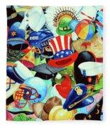Hundreds Of Hats Fleece Blanket