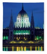 Hungarian Parliament Building Fleece Blanket