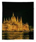 Hungarian Parliament  Fleece Blanket