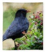 Hungry Blackbird Fleece Blanket