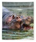 Hungry Hungry Hippo Fleece Blanket