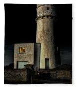 Hunstanton Lighthouse At Night Fleece Blanket