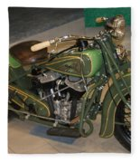Hunter Green Indian Motorcycle...   # Fleece Blanket