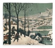 Hunters In The Snow Fleece Blanket