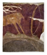 Hunting, 12th Century Fleece Blanket
