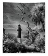 Hunting Island Lighthouse Fleece Blanket