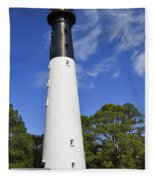 Hunting Island Lighthouse South Carolina Fleece Blanket