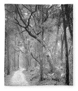 Hunting Island Path  Fleece Blanket