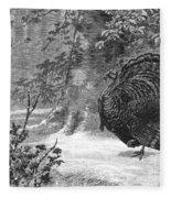 Hunting: Wild Turkey, 1886 Fleece Blanket