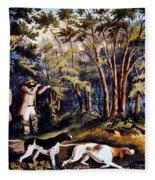 Hunting: Woodcock, 1852 Fleece Blanket