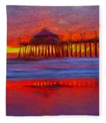 Huntington Beach Fleece Blanket