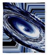 Hurricane In Space Abstract Fleece Blanket