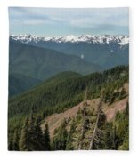 Hurricane Ridge View Fleece Blanket
