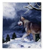 Husky - Mountain Spirit Fleece Blanket