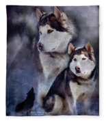 Husky - Night Spirit Fleece Blanket