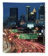Hustle And Bustle Of Atlanta Roadways Fleece Blanket