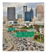 Hustle And Bustle On The Highways And Byways Fleece Blanket