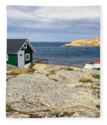 Hut On The Rocks Fleece Blanket