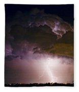 Hwy 52 - 08-15-2010 Lightning Storm Image 42 Fleece Blanket