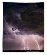 Hwy 52 - Hwy 287 Lightning Storm Image 29 Fleece Blanket