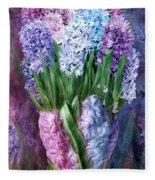 Hyacinth In Hyacinth Vase 1 Fleece Blanket