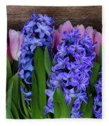 Hyacinths And Tulips II Fleece Blanket