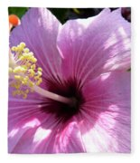 Hybiscus Smile Fleece Blanket