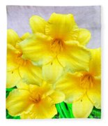 Hybrid Daffodils Fleece Blanket