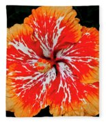 Hybrid Hibiscus II Maui Hawaii Fleece Blanket