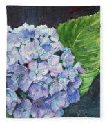 Hydrangea And Water Droplet Fleece Blanket