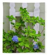 Hydrangea Blooming In October Fleece Blanket