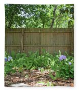 Hydrangea Bushes Fleece Blanket