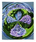 Hydrangea Cross Fleece Blanket