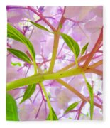 Hydrangea Flower Inside Floral Art Prints Baslee Troutman Fleece Blanket