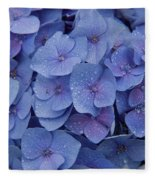 Hydrangea Flowers Fleece Blanket