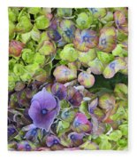 Hydrangea  One Fleece Blanket