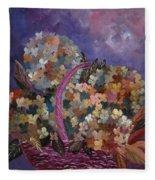 Hydrangeas 45 Fleece Blanket